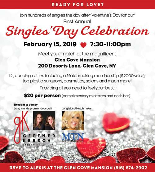 Alisa J. Geffner and Carolyn D. Kersch co-host the First Annual Singles' Day Celebration